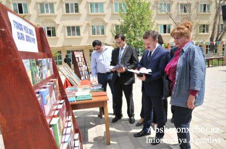 """Abşeron rayonunda """"Kitab bayramı"""" keçirildi"""