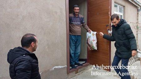 Abşeron rayonunda imkansız ailələrə Novruz sovqatı paylanıb